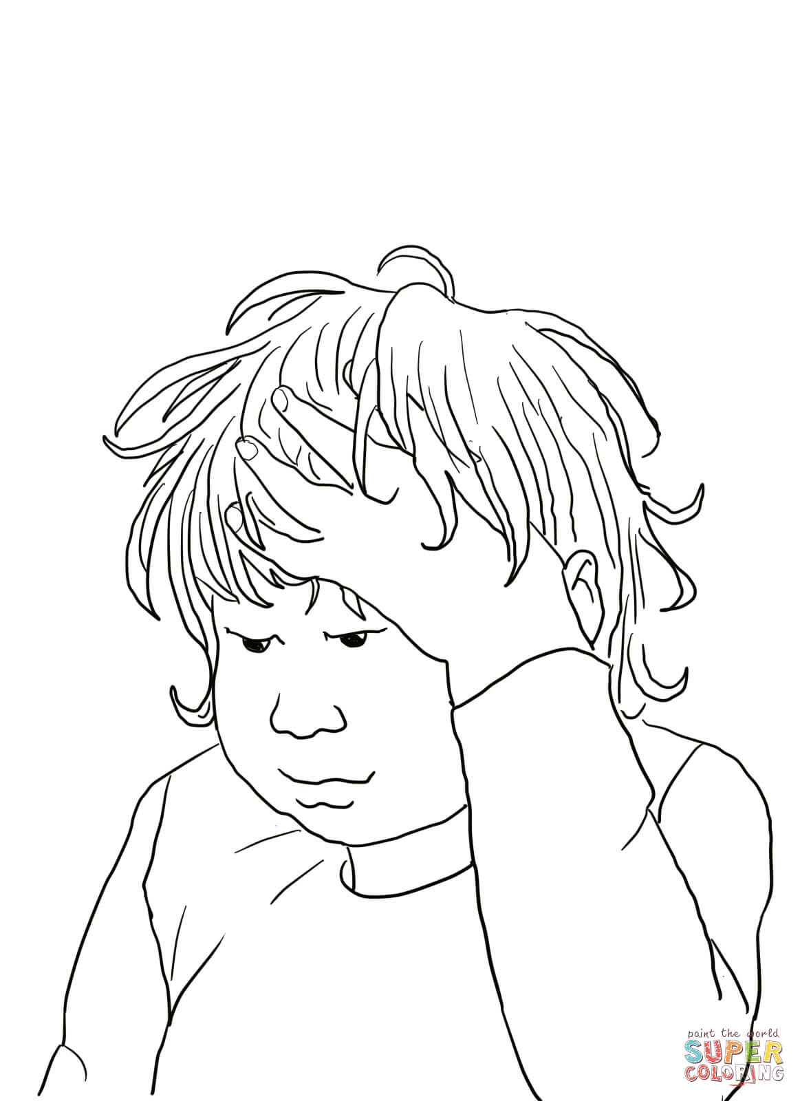 I M Having A Terrible Horrible No Good Very Bad Day Coloring Page