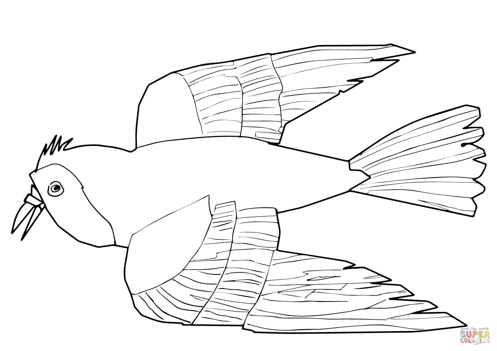 Red Bird Red Bird What Do You See Coloring Page