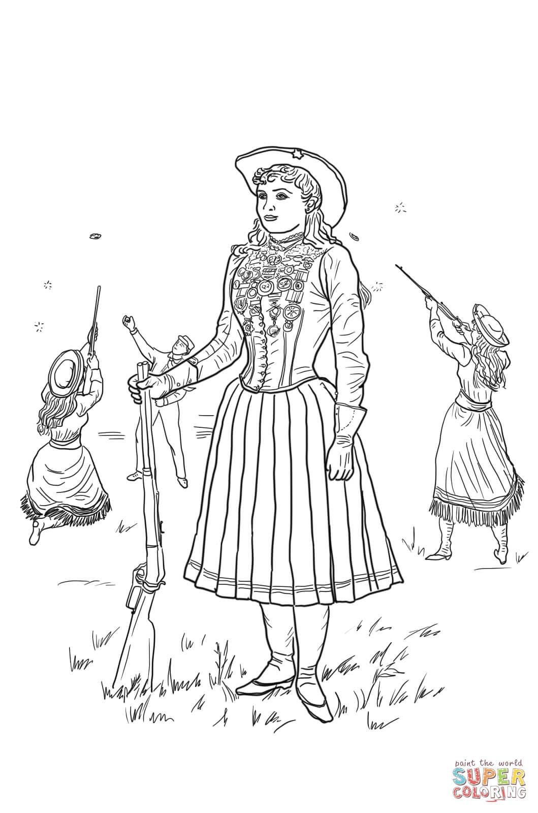 Dibujo De Annie Oakley Para Colorear