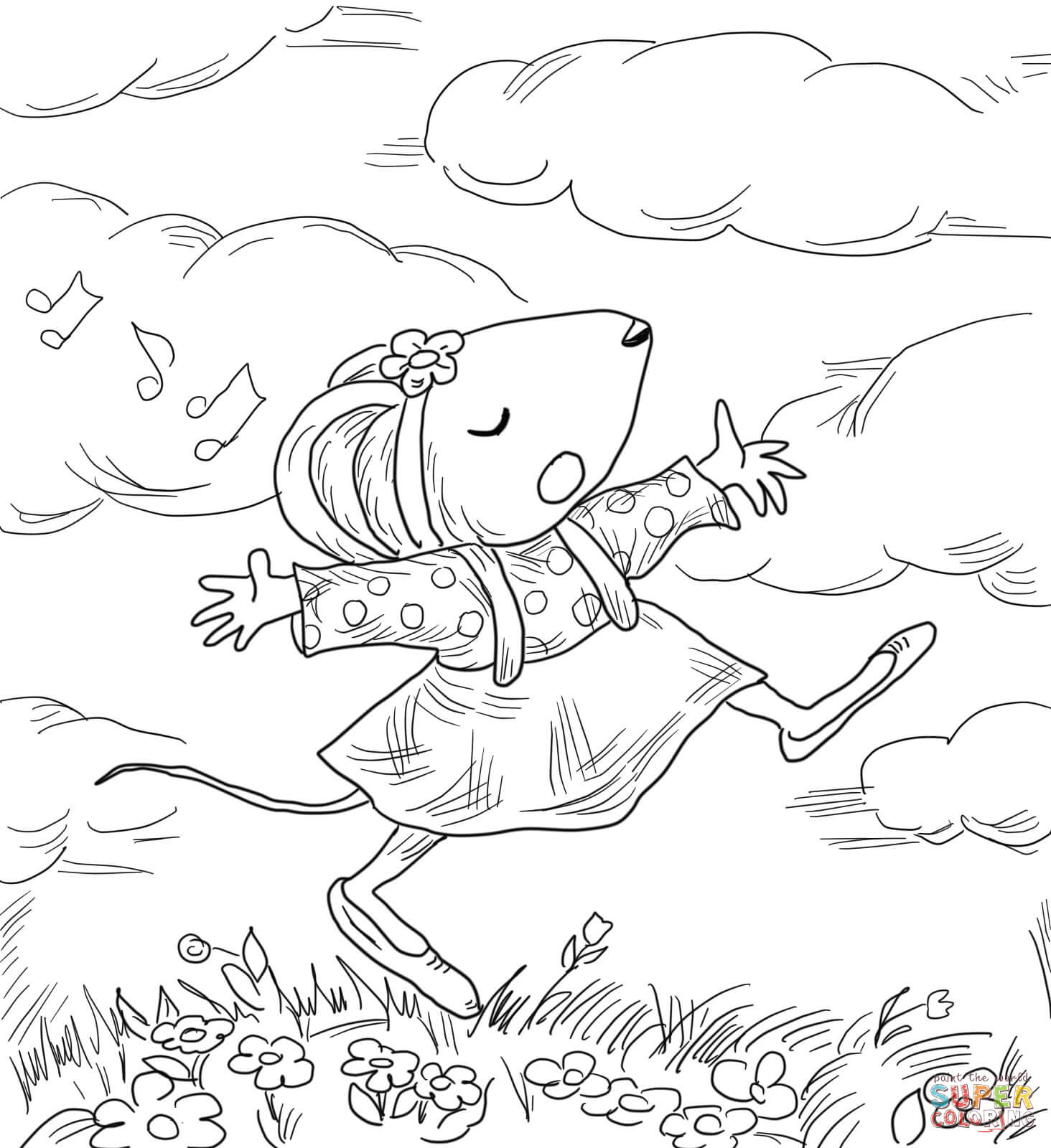 Chrysanthemum Penny And Her Song Coloring Page