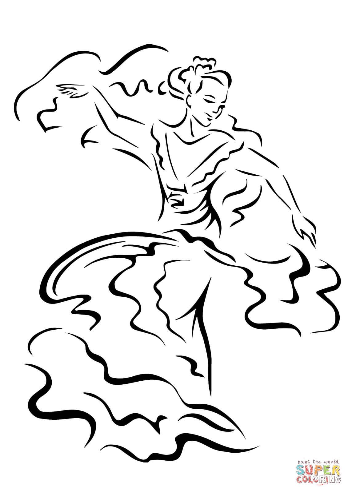 Cinco De Mayo Dancer Coloring Page