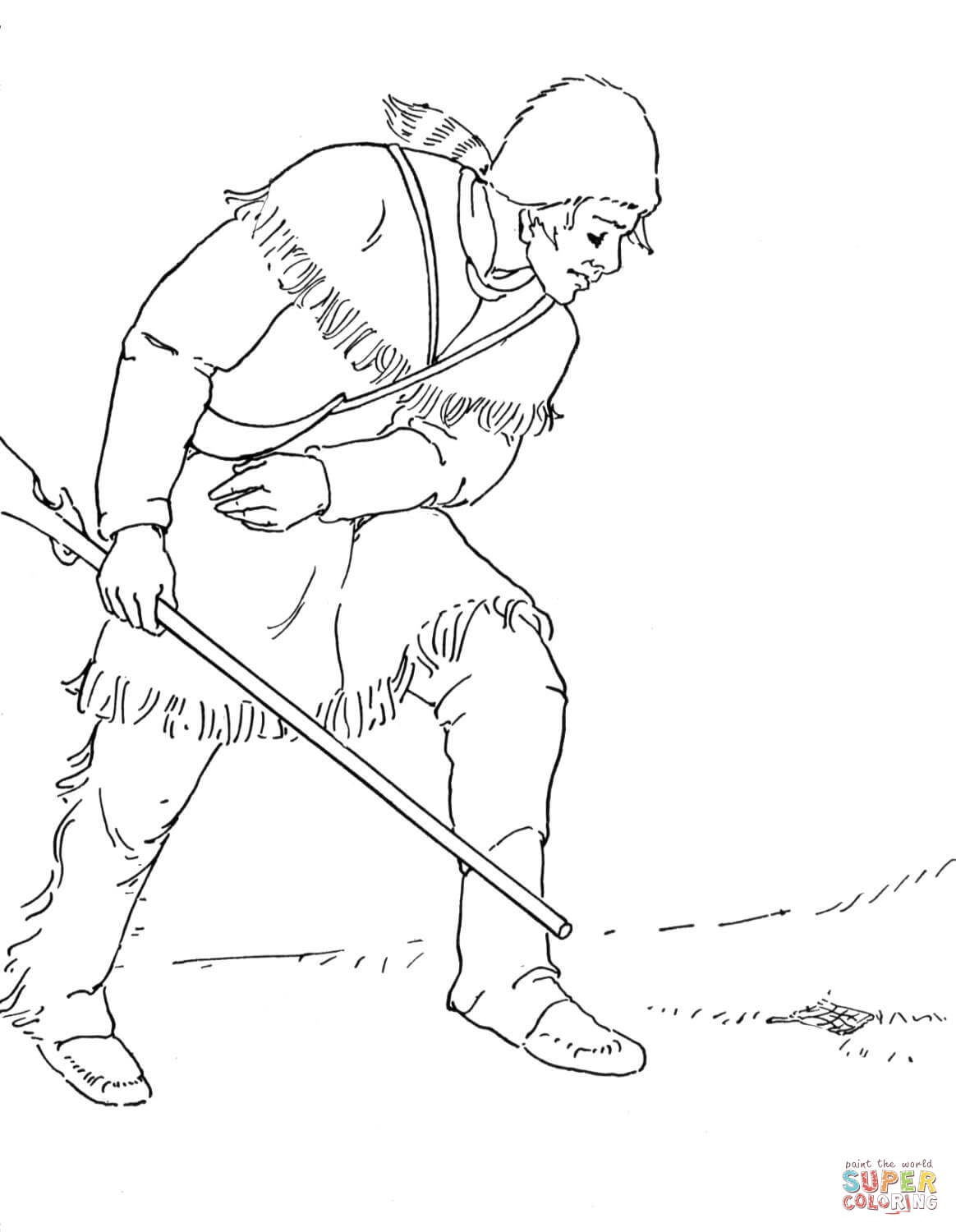 Daniel Boone Coloring Page