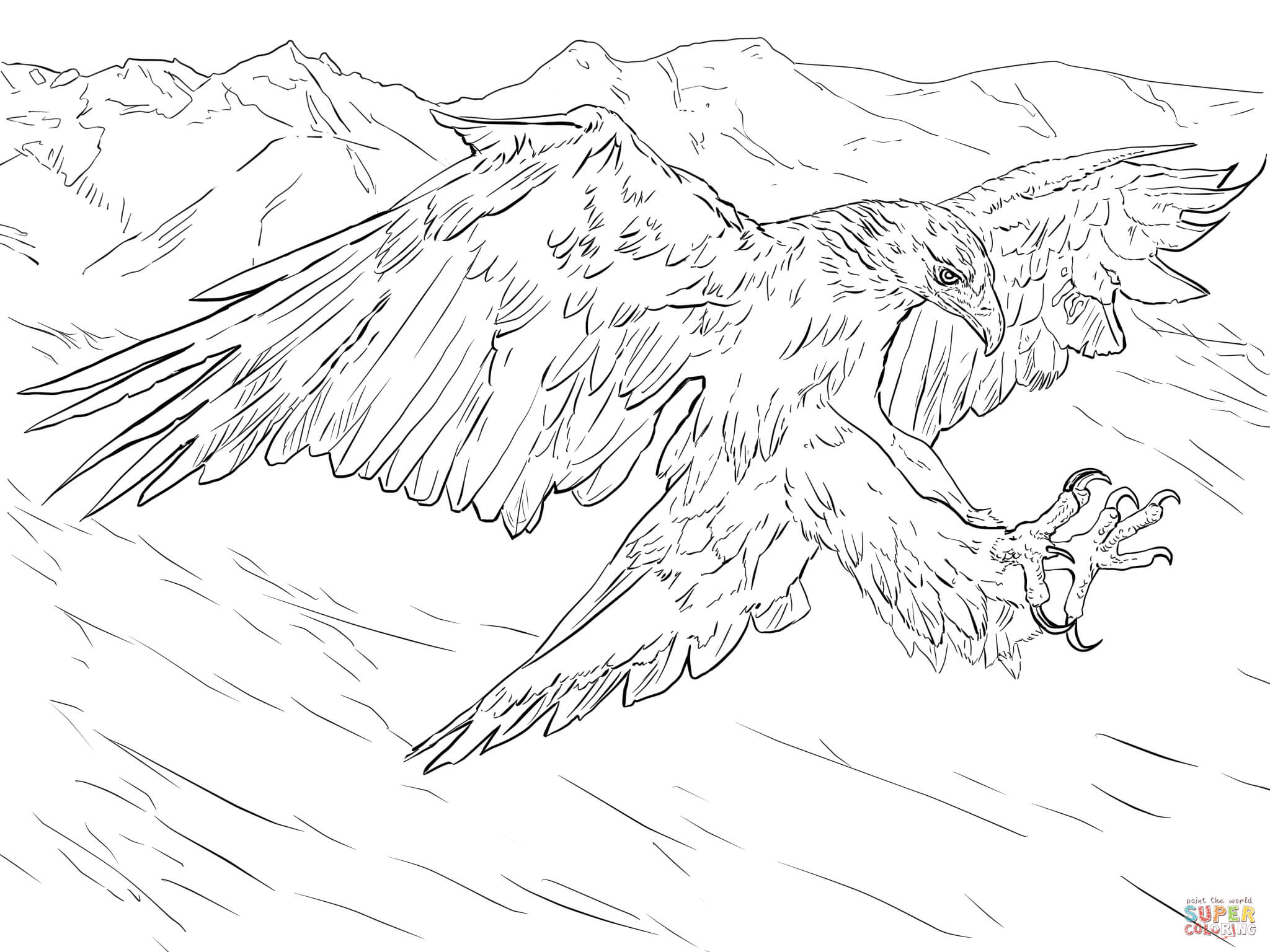 Golden Eagles Coloring Page