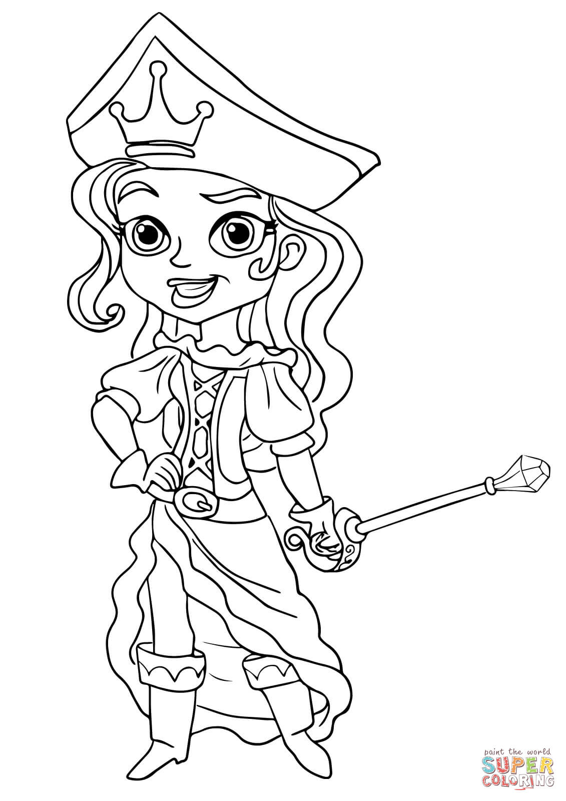 The Pirate Princess Coloring Page