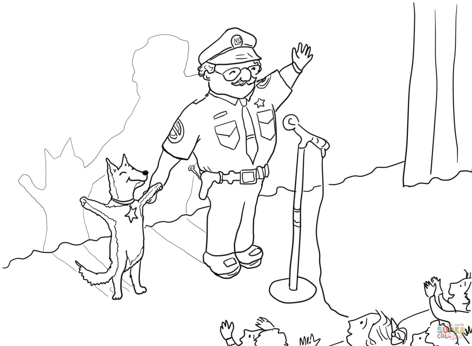 Officer Buckle And Gloria Taking A Bow Coloring Page