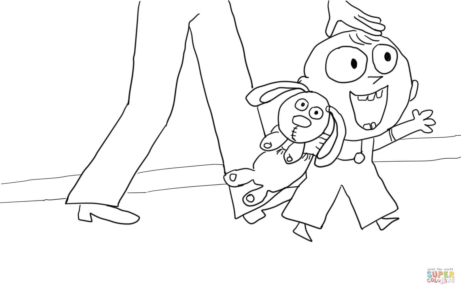 Trixie From Knuffle Bunny Coloring Page