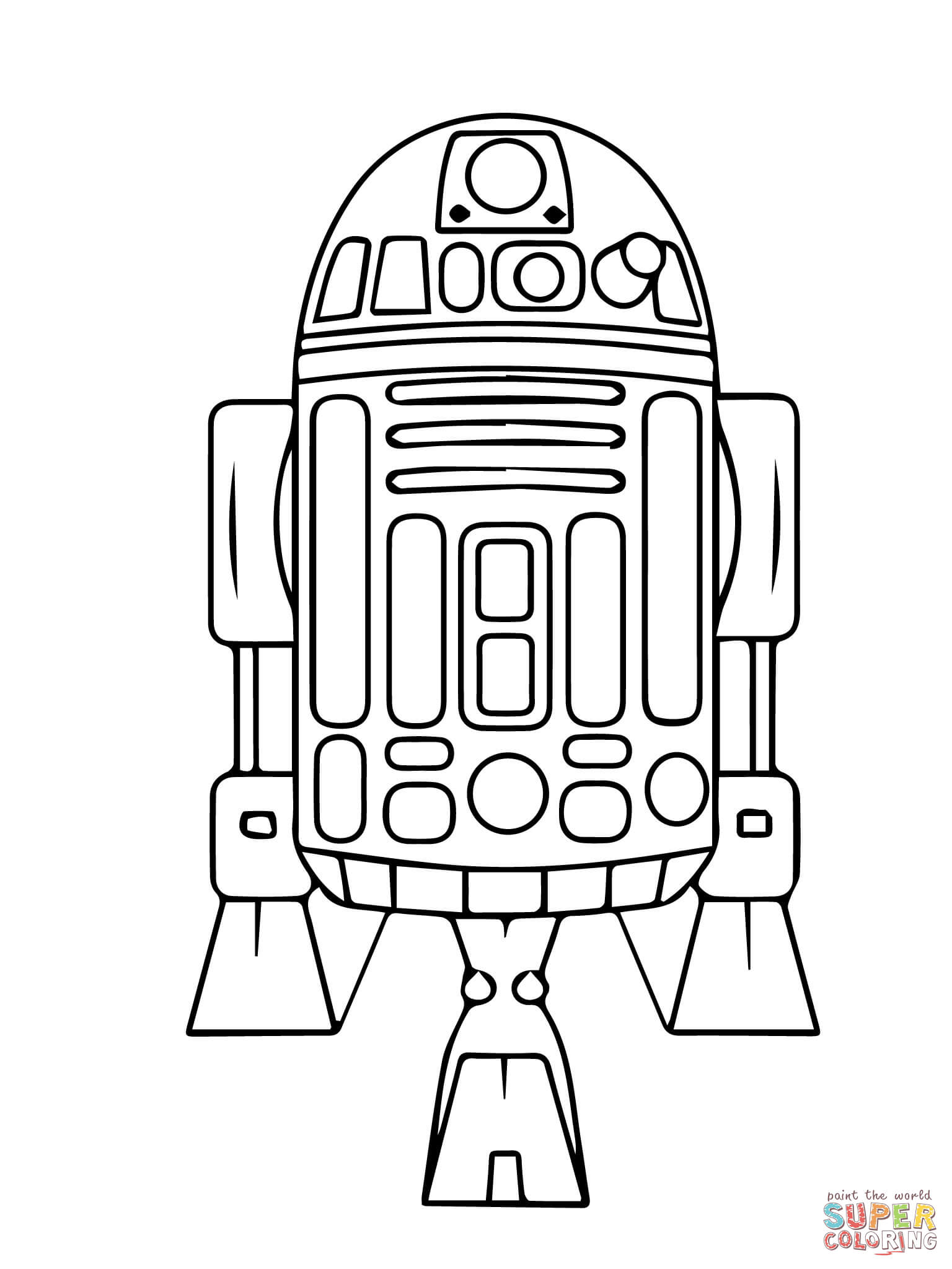 Dibujo De Droide Astromecanico R2 D2 De Star Wars La