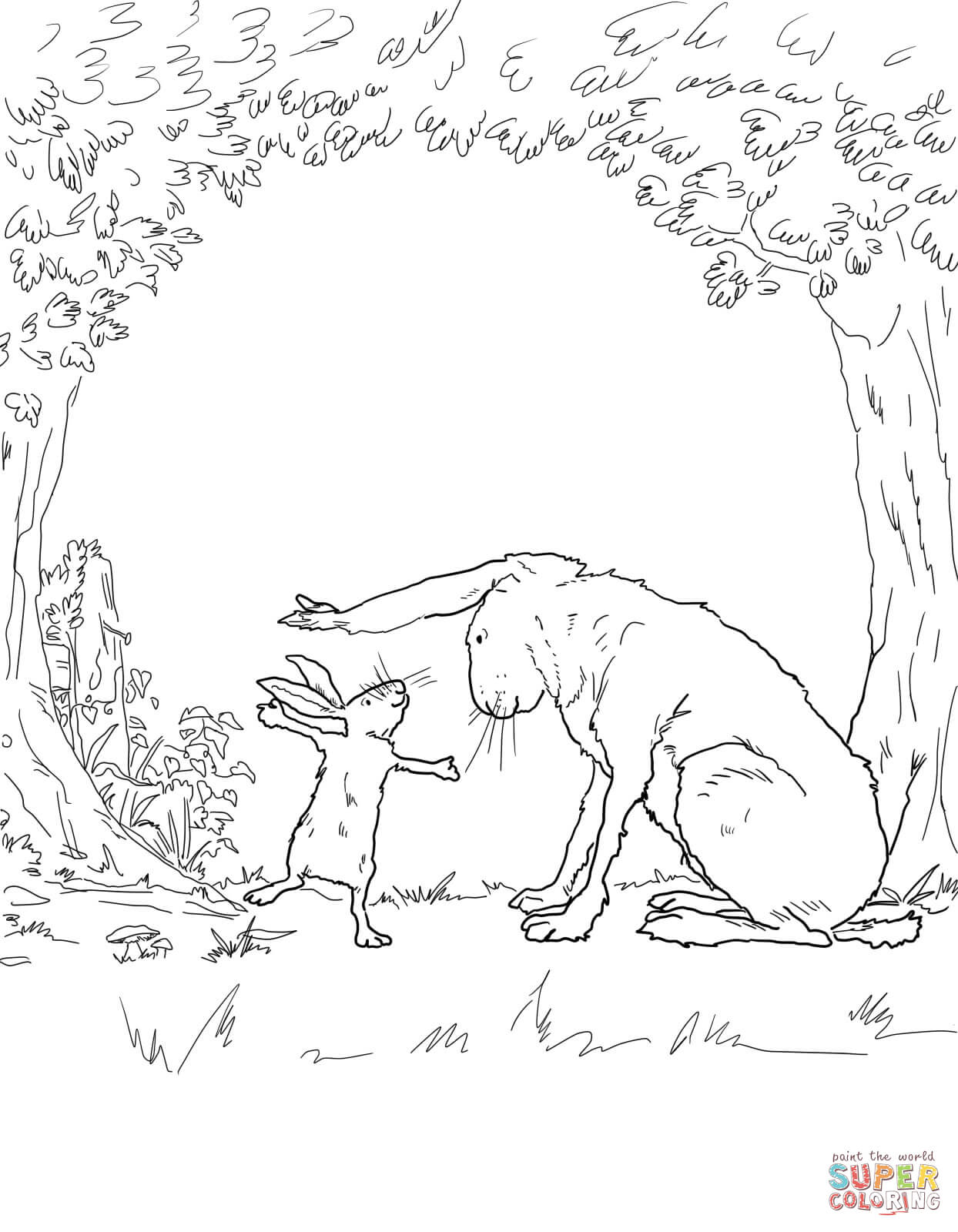 Guess How Much I Love You Coloring Page