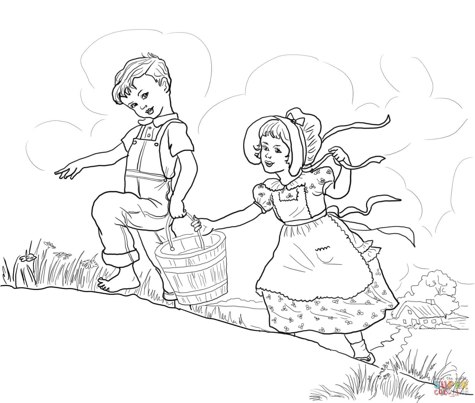 Jack En Jill Verpleegrijmpje Kleurplaat