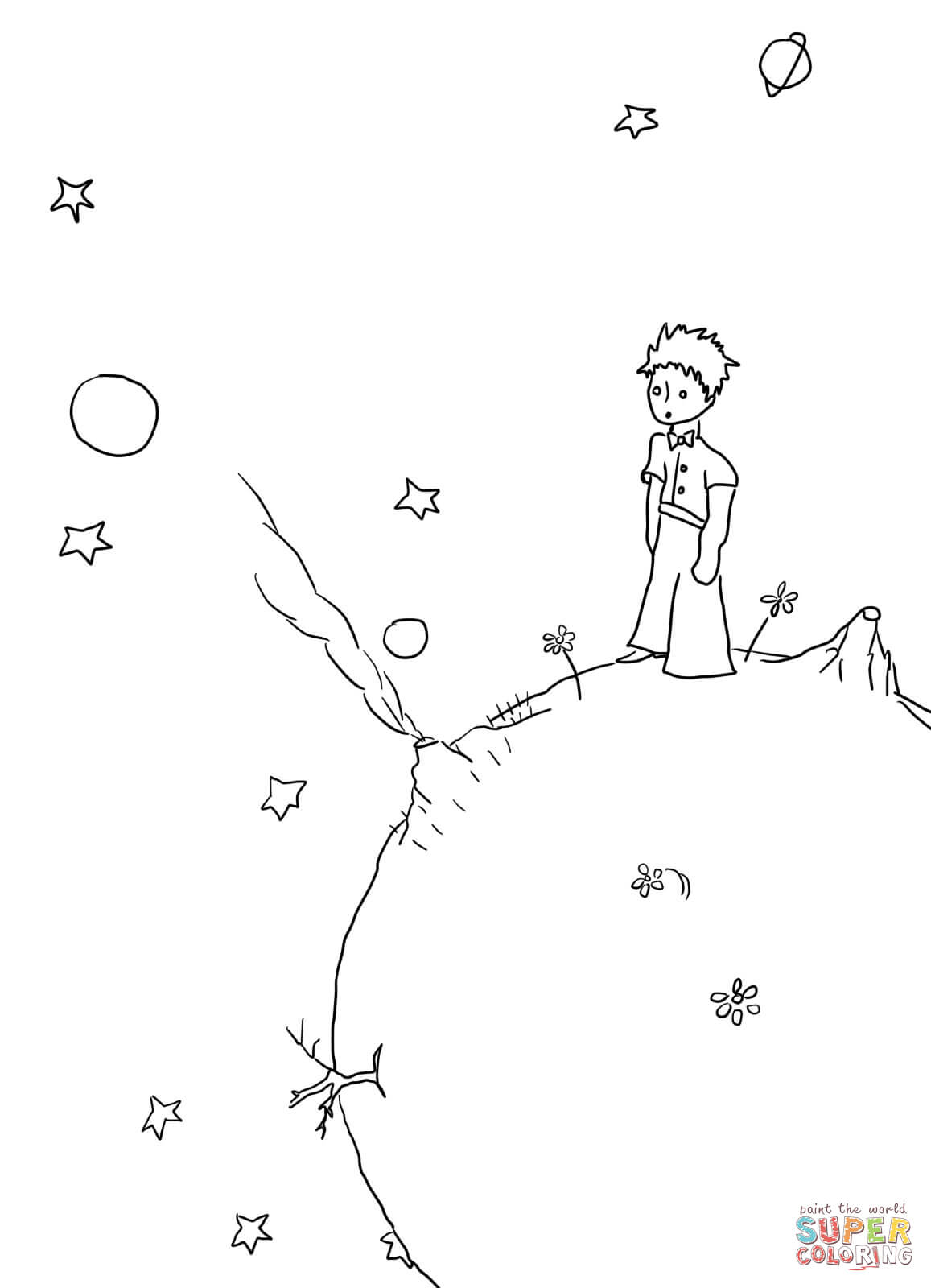Little Prince M Cripts Coloring Page