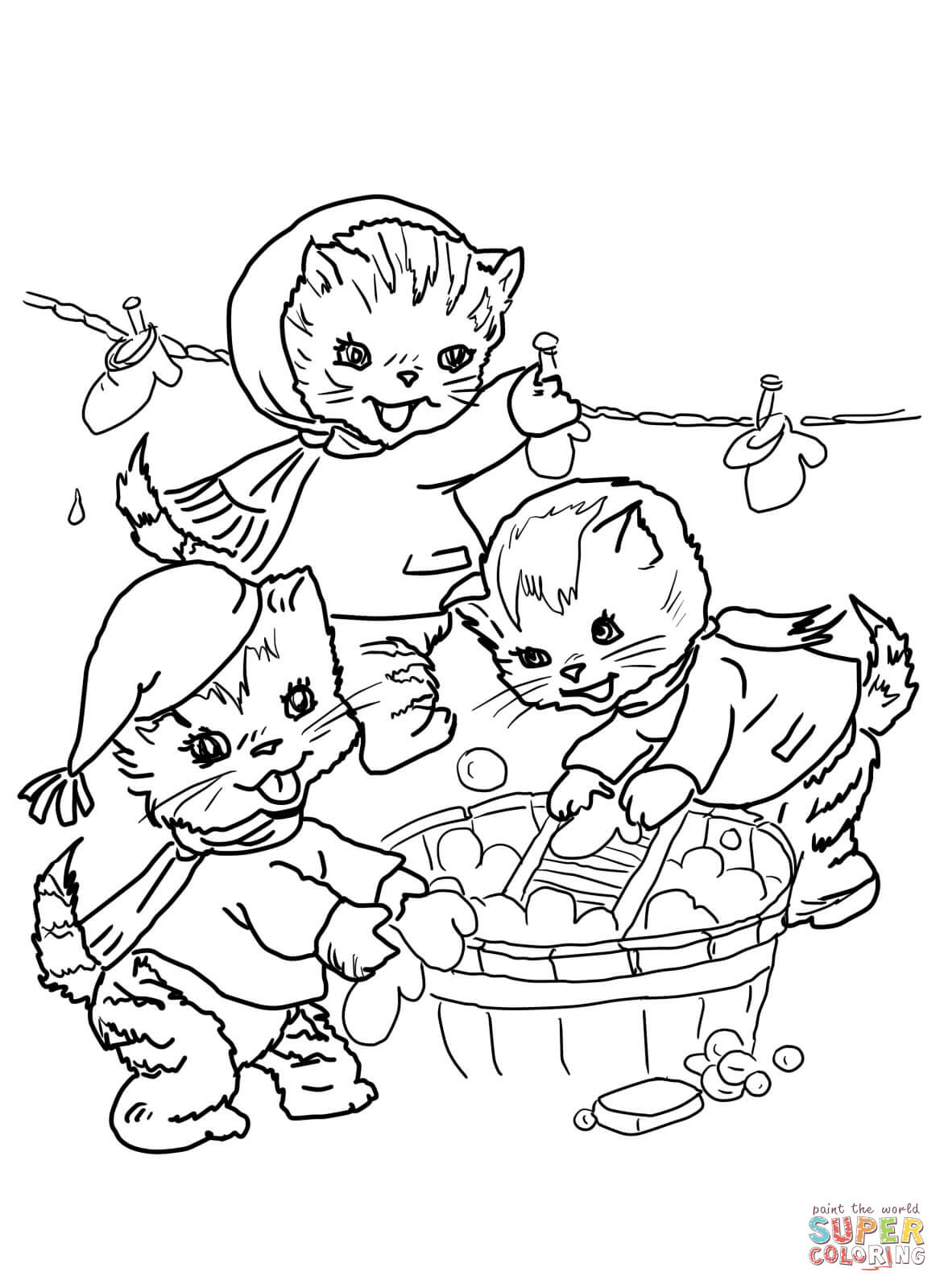The Three Little Kittens They Washed Their Mittens