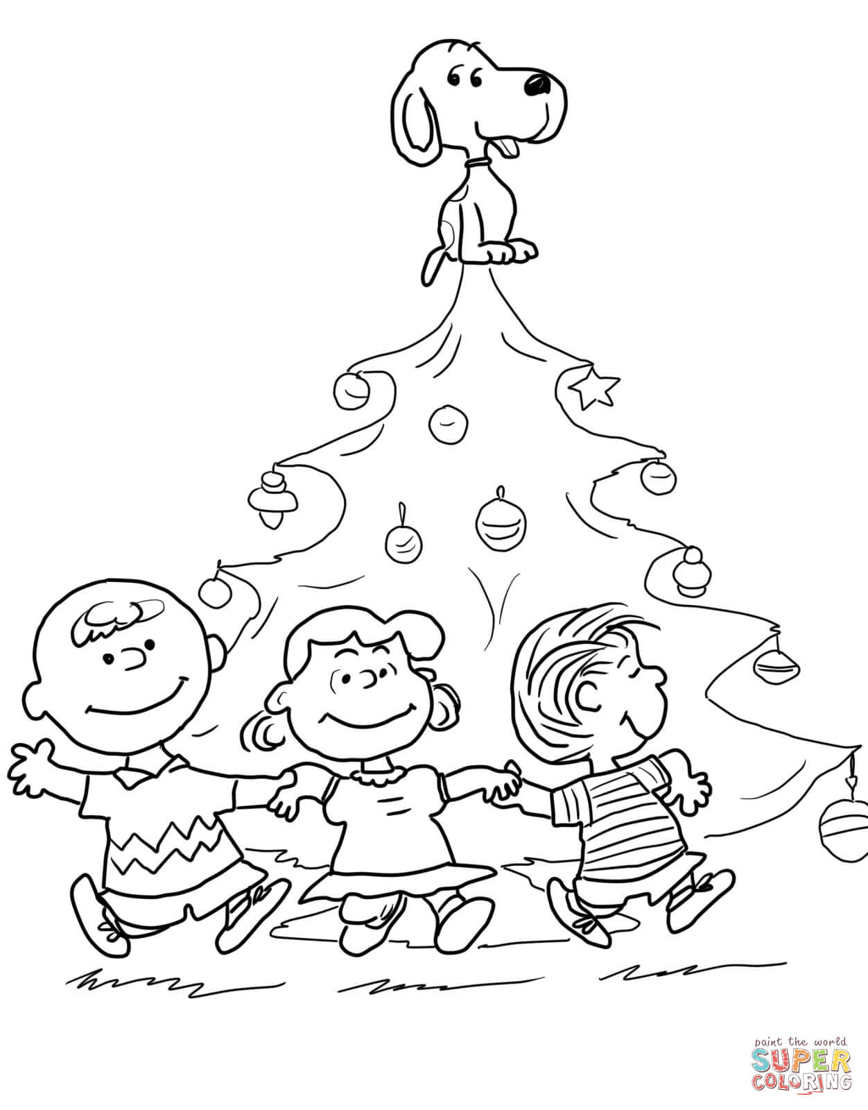 Free Coloring Pages Download Charlie Brown Christmas Tree Page Printable Of
