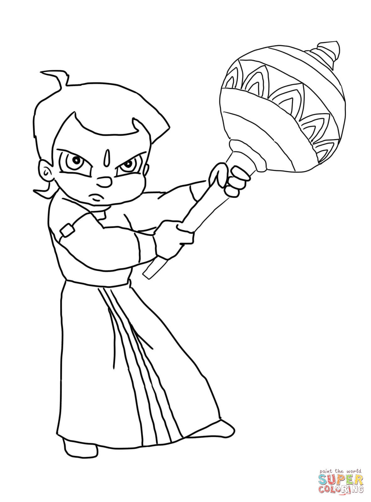 Chhota Bheem And The Curse Of Damyaan Coloring Page