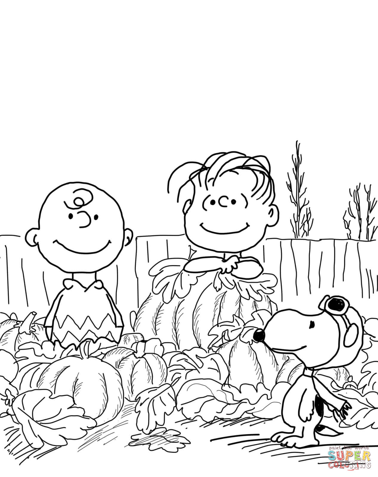 Great Pumpkin Charlie Brown Coloring Page