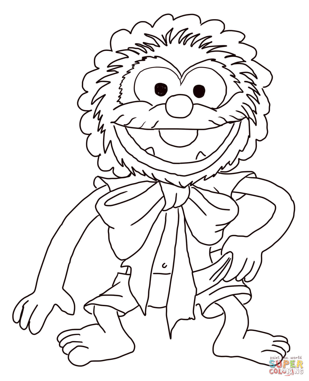 Muppet Babies Baby Animal Coloring Page