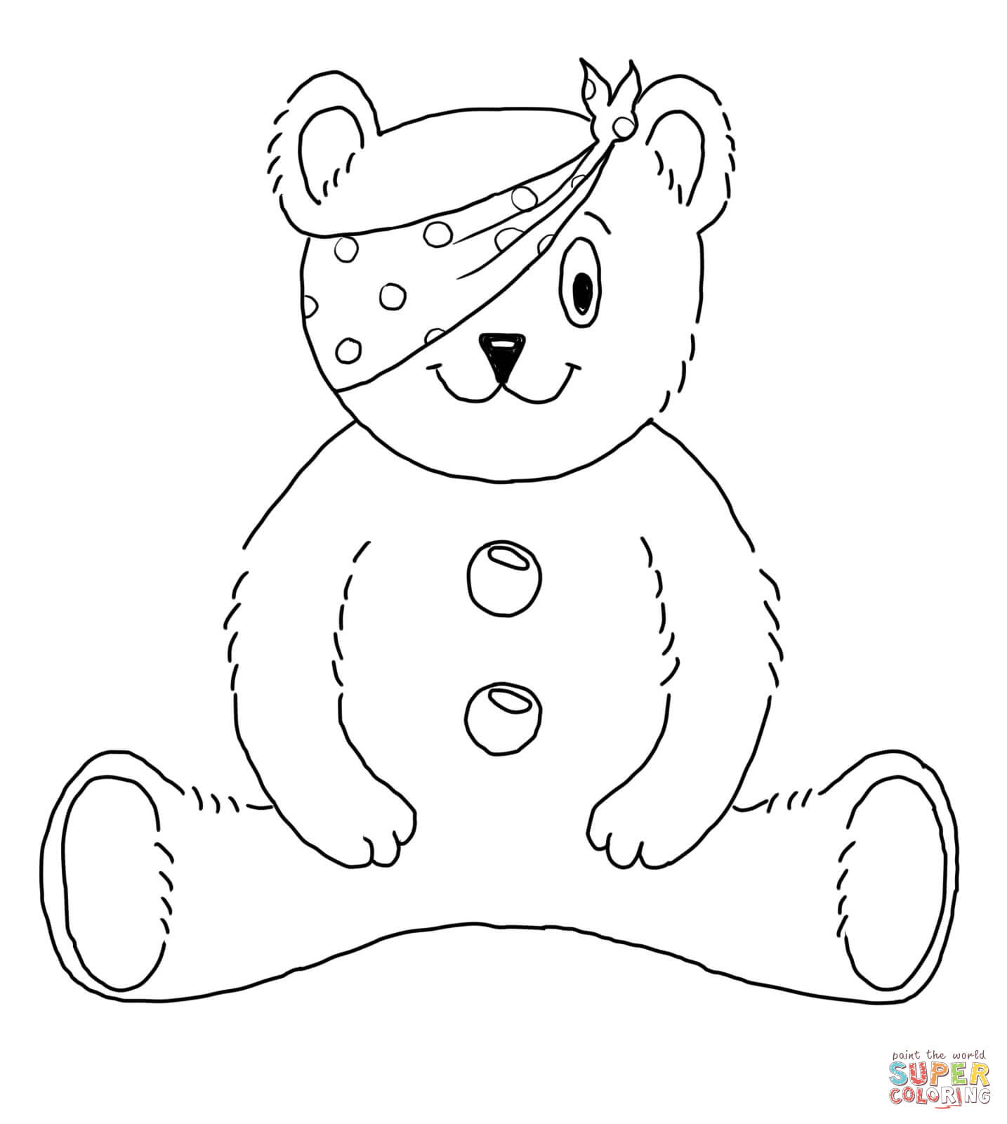 Children In Need Mascot Coloring Page
