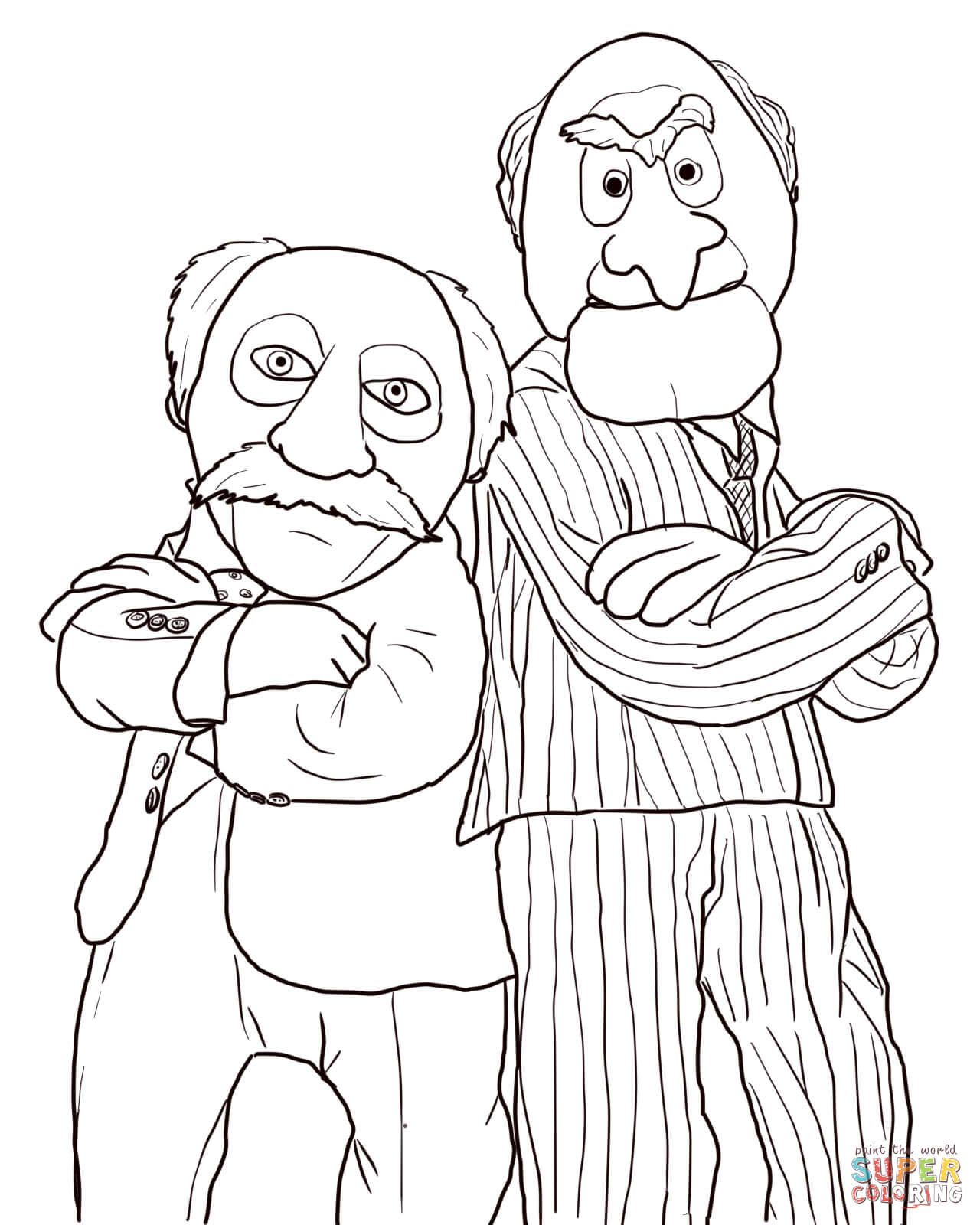 Statler And Waldorf Coloring Page