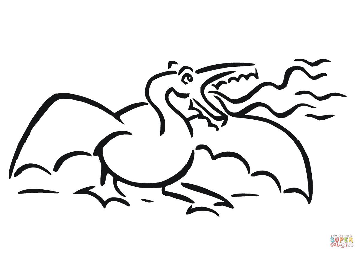 Angry Dragon Coloring Page
