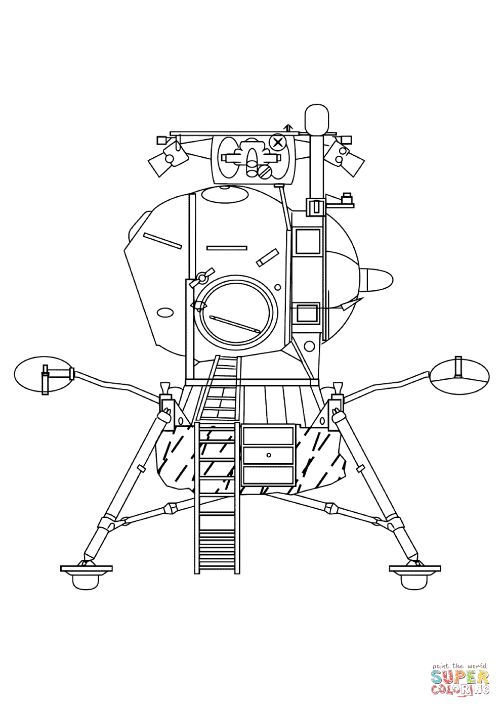 Click the lunar landing module coloring pages to view printable version or color it online patible with ipad and android tablets