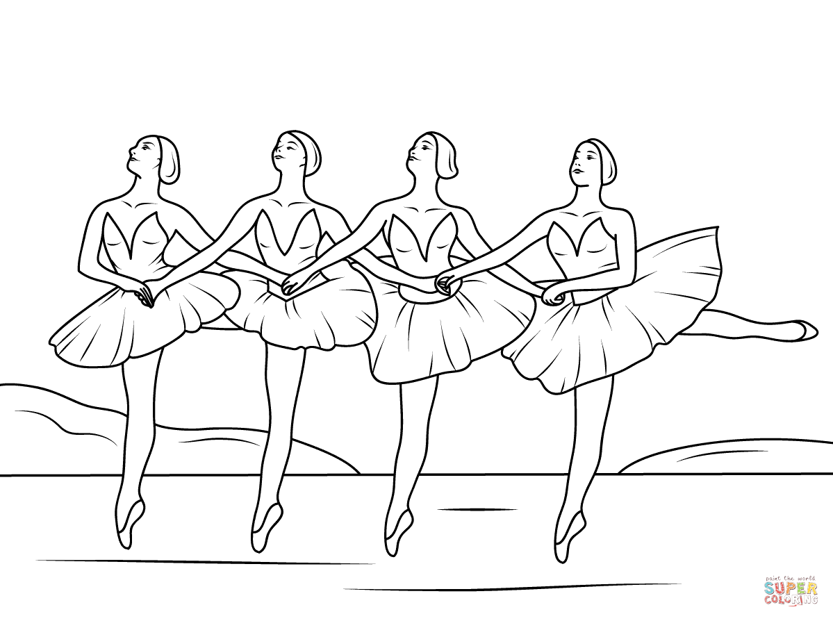 Swan Lake Ballet Coloring Page Free Printable Coloring Pages