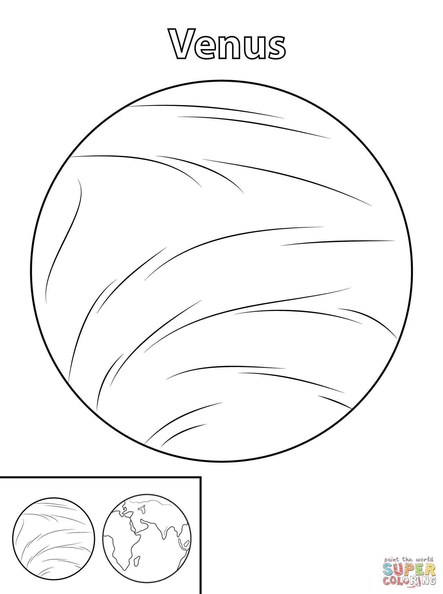Venus Planet Coloring Page