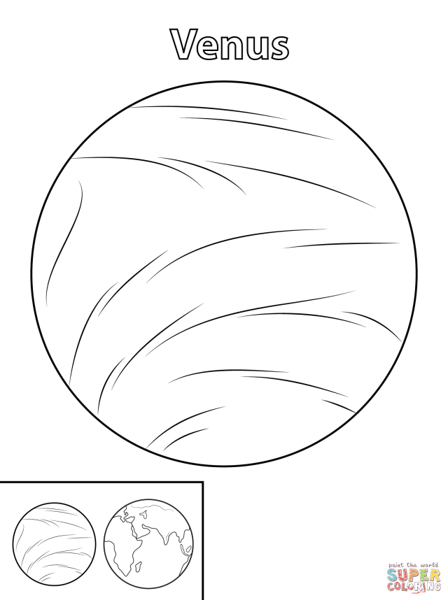 Venus Planet coloring page  Free Printable Coloring Pages