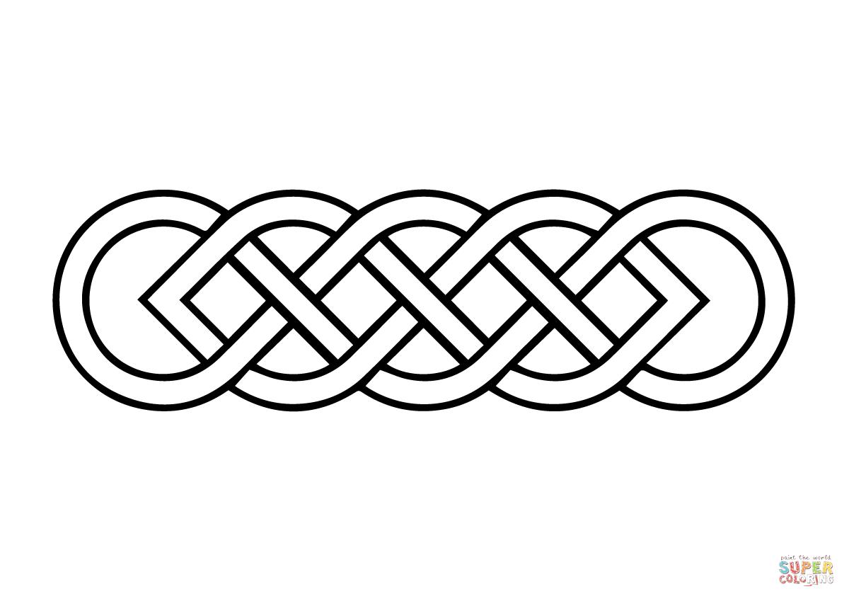Ausmalbild Einfacher Keltischer Knoten