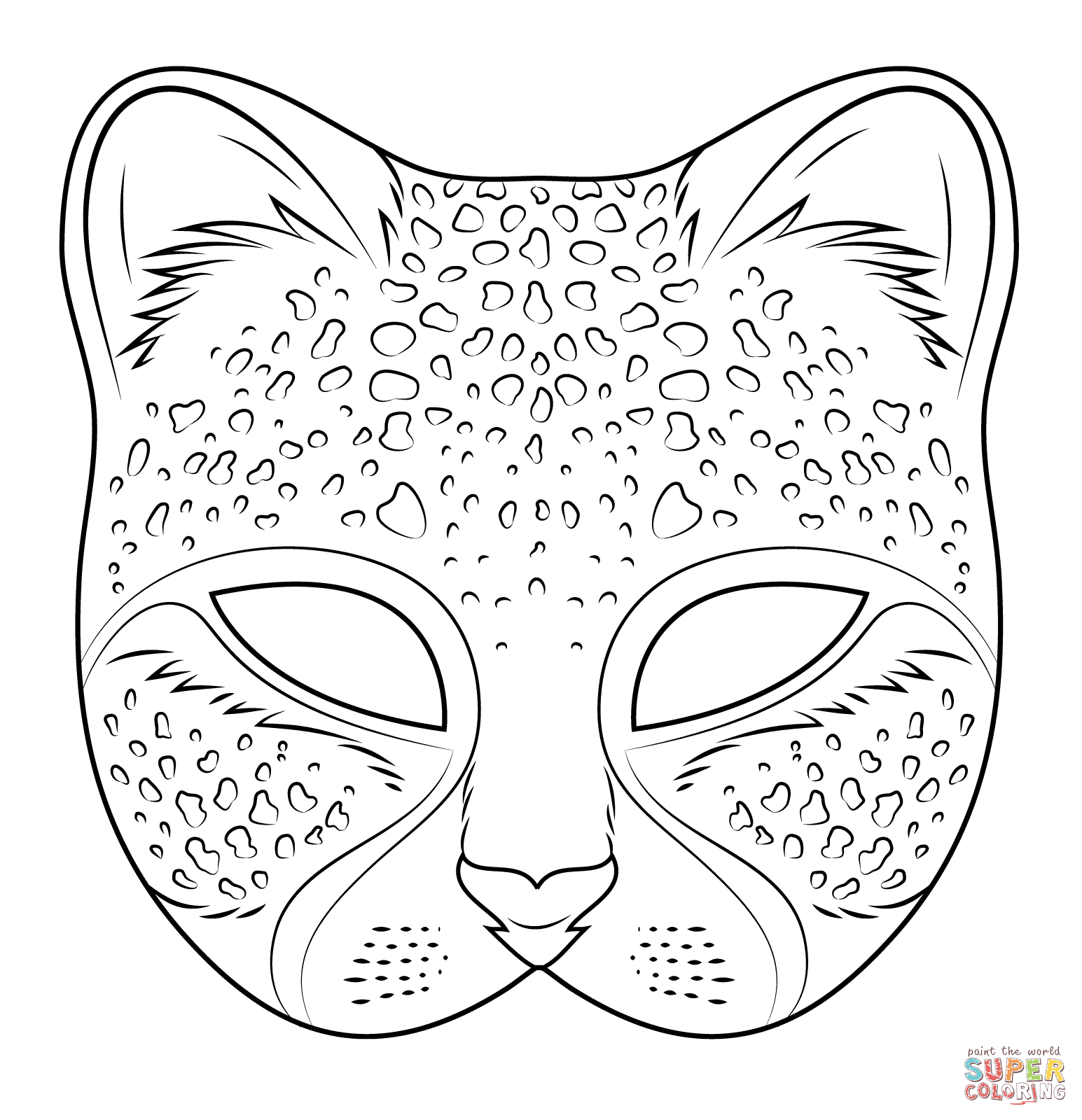 Cheetah Mask Coloring Page Free Printable Coloring Pages Kostenlose ...