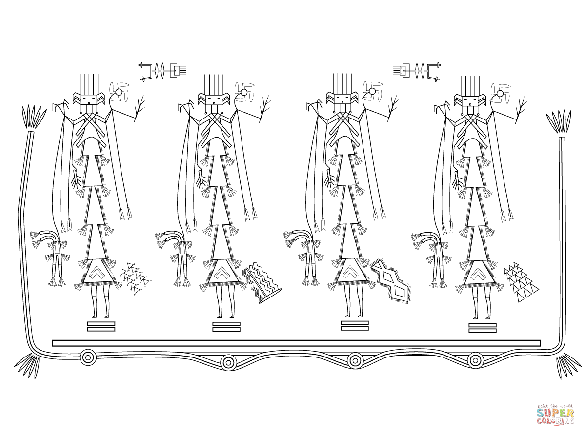 Navajo Sand Painting Coloring Page