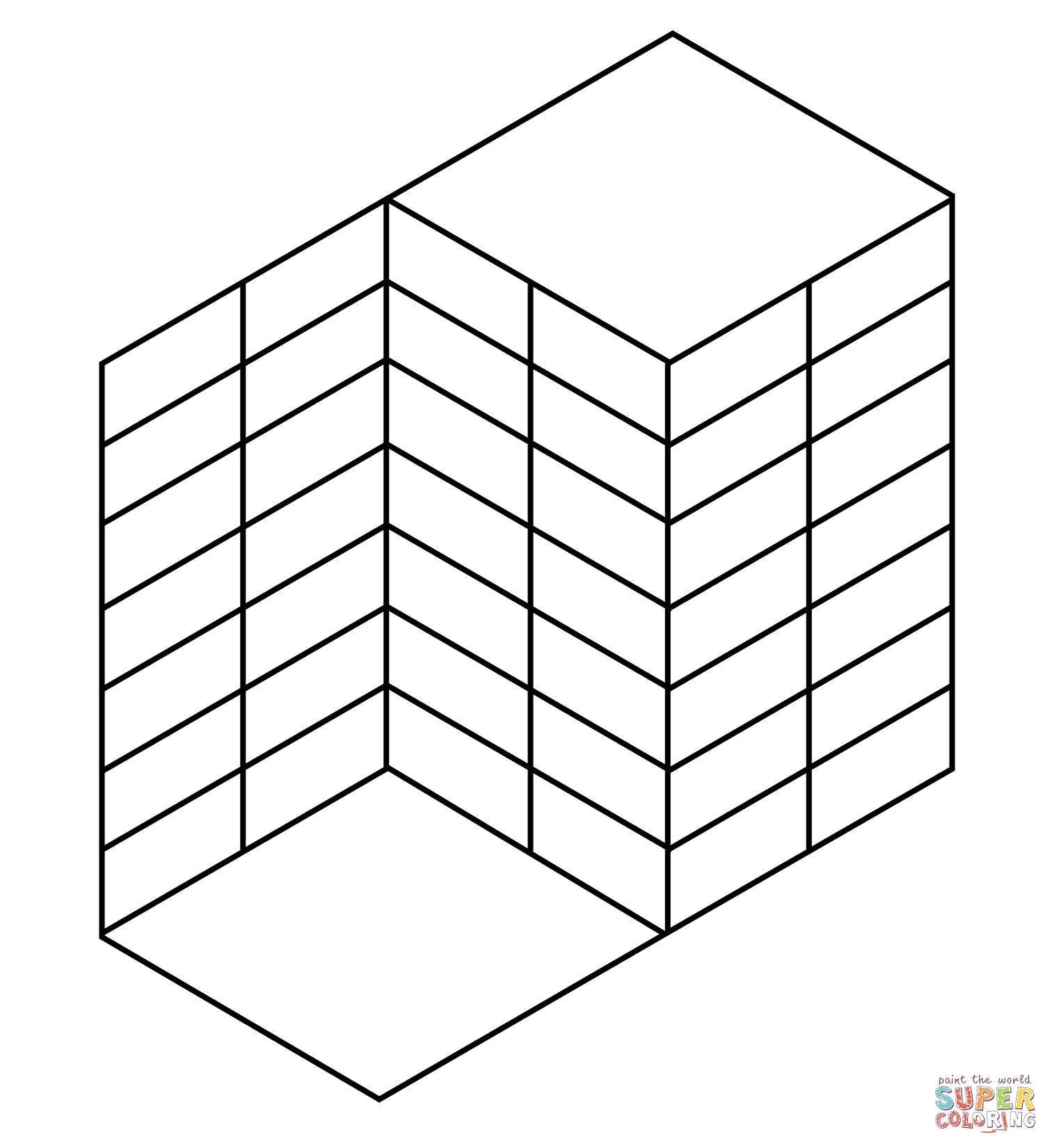 Optical Illusion 41 Coloring Page