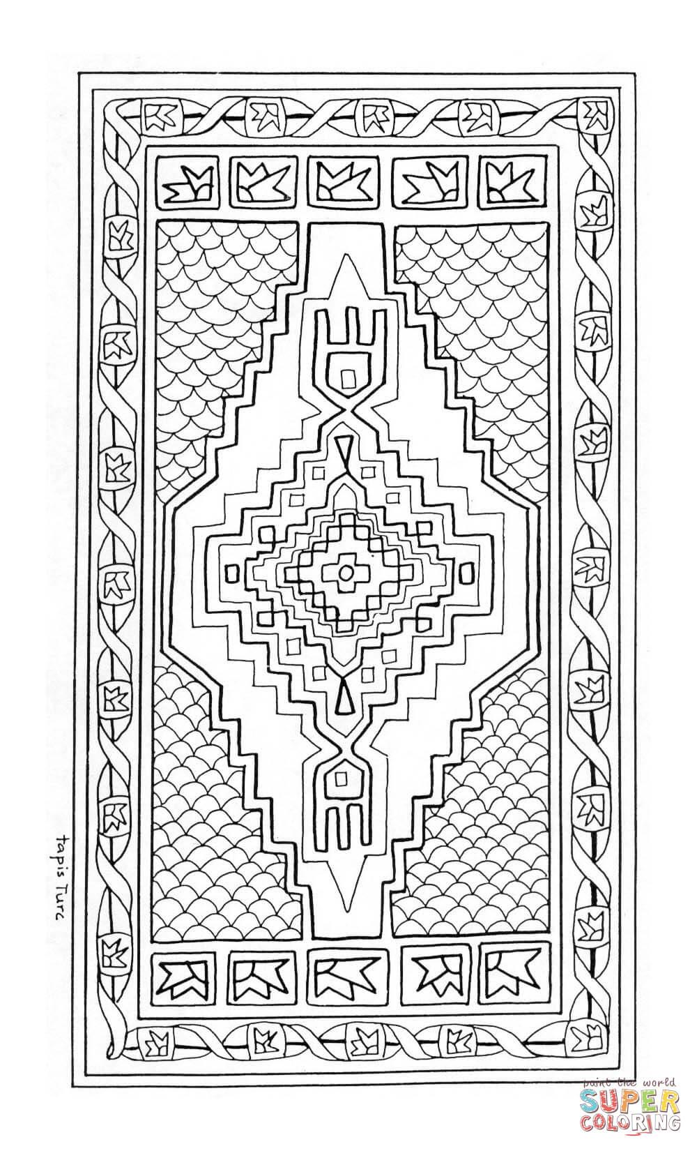 Ausmalbild Orientalischer Teppich Mandala Ausmalbilder
