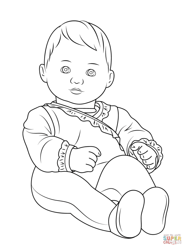 American Girl Bitty Baby coloring page  Free Printable Coloring Pages