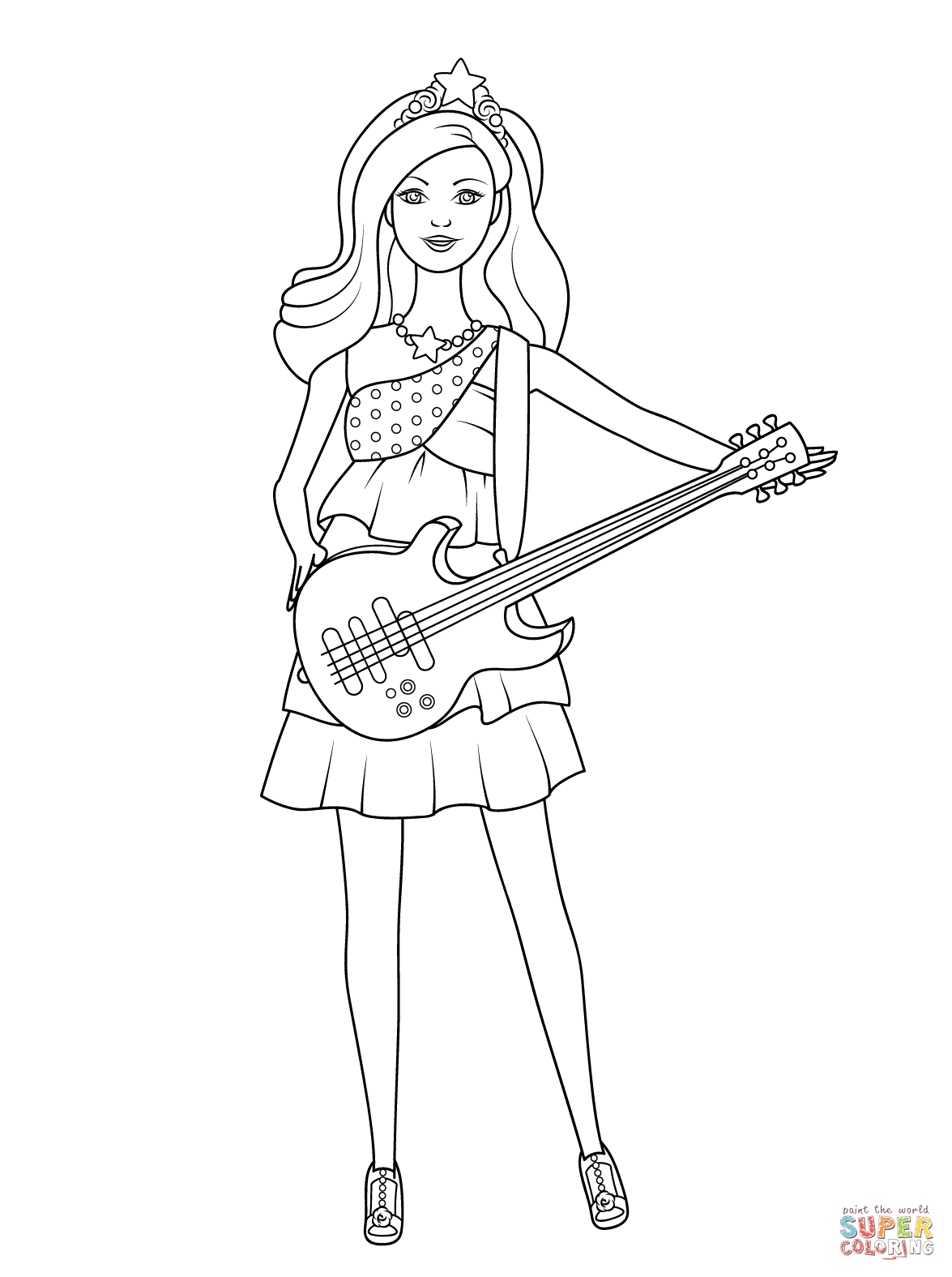 Barbie Pop Star Keira Coloring Page Free Printable Coloring Pages