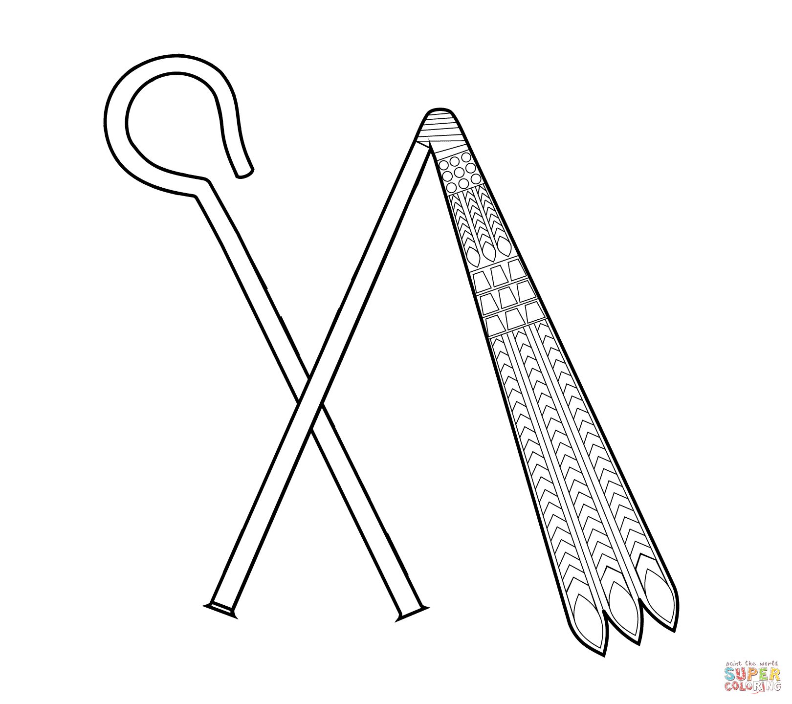 Crook And Flail Coloring Page