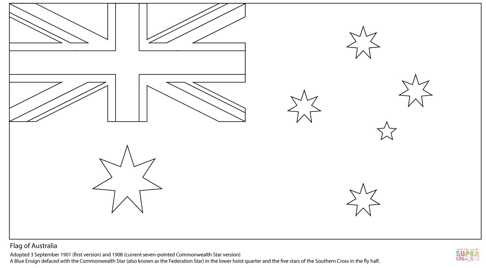 Desenho De Bandeira Australiana Para Colorir