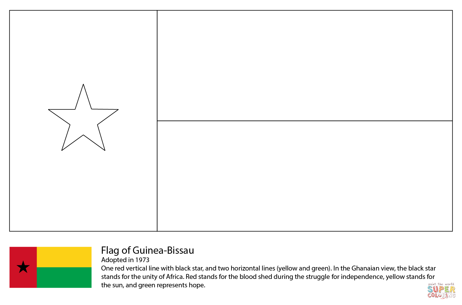 Haiti Flag Worksheet