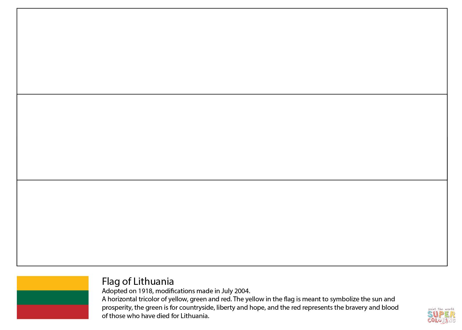 Ausmalbild Flagge Von Litauen Ausmalbilder Kostenlos