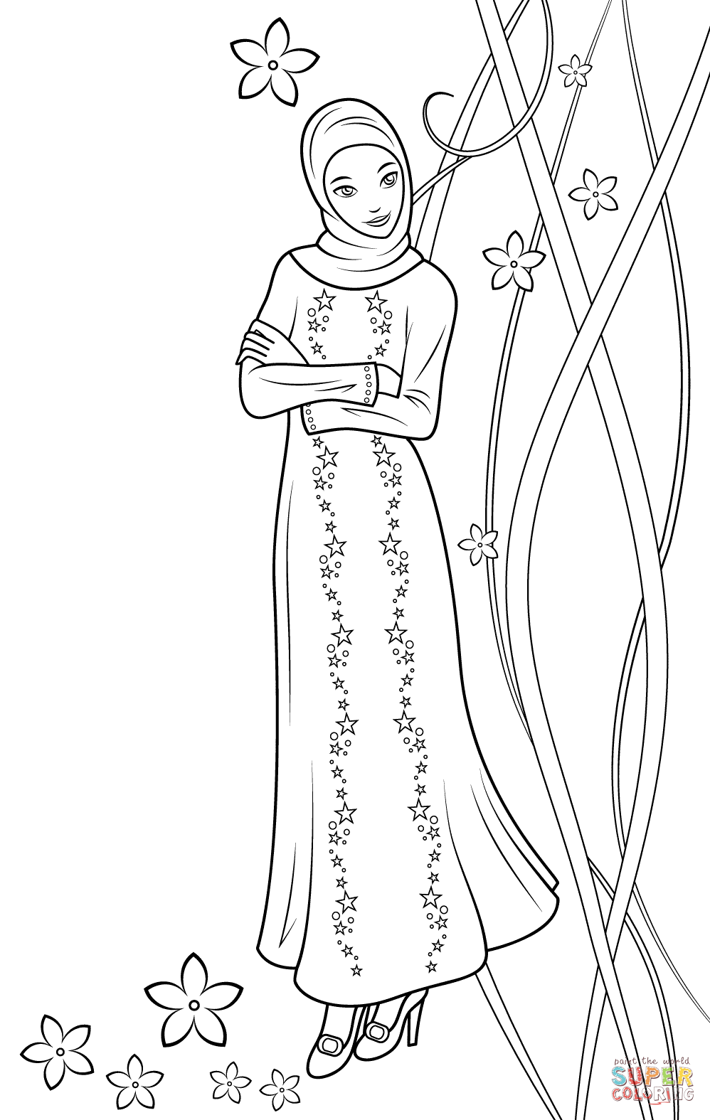 Fulla Doll Coloring Page Free Printable Coloring Pages