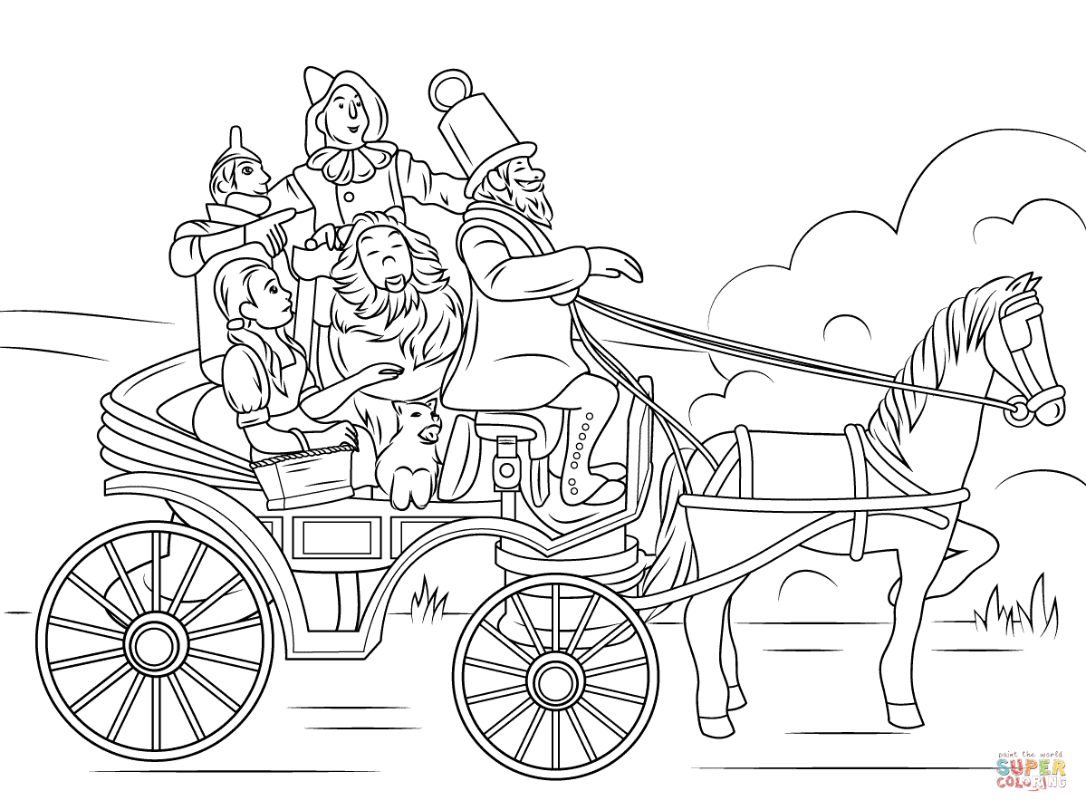 Horse Of A Different Color Coloring Page