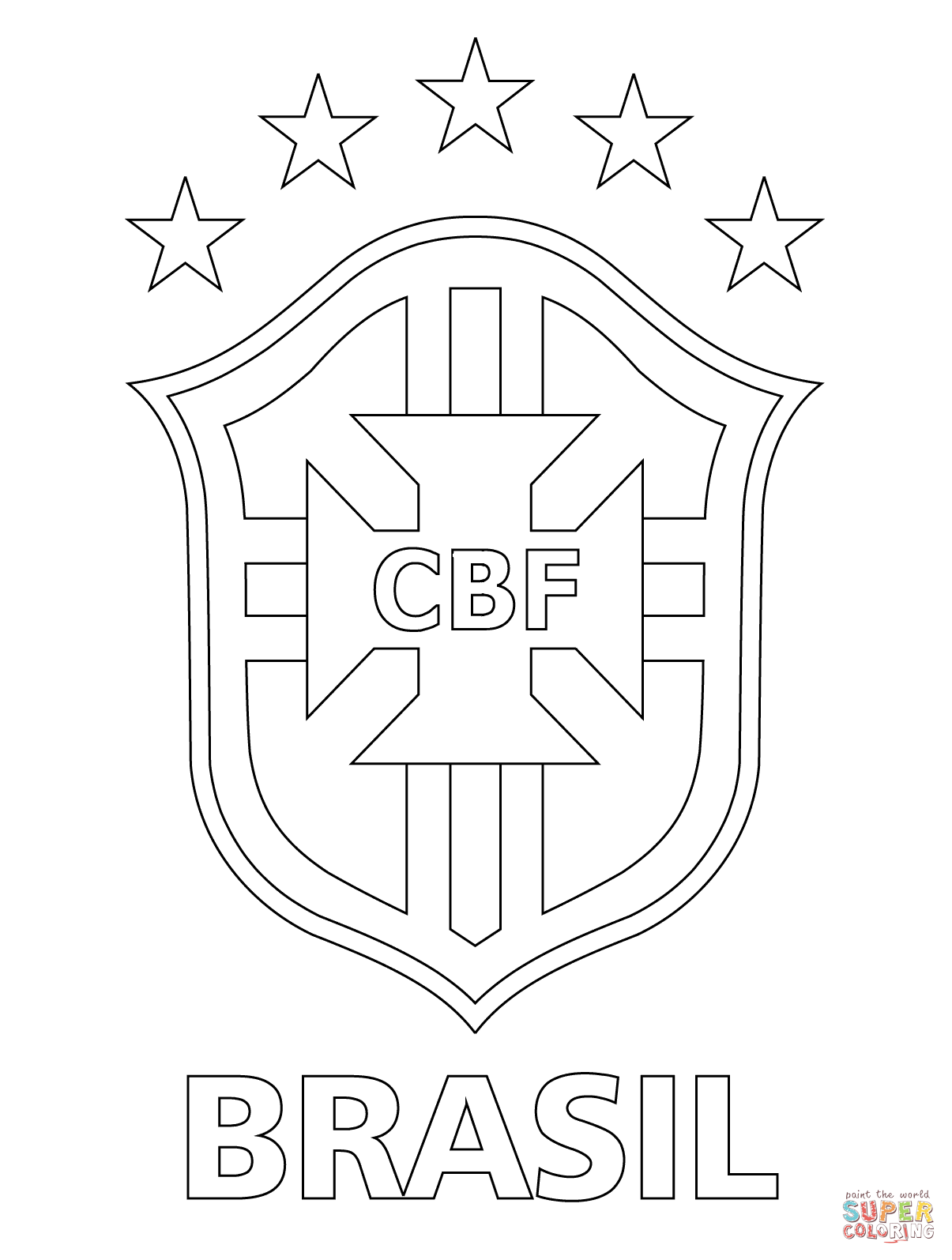 Logo Of Brazilian Football Confederation Coloring Page