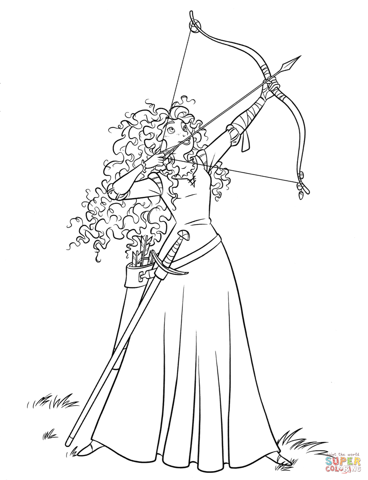 Brave Coloring Pages Free Coloring Pages