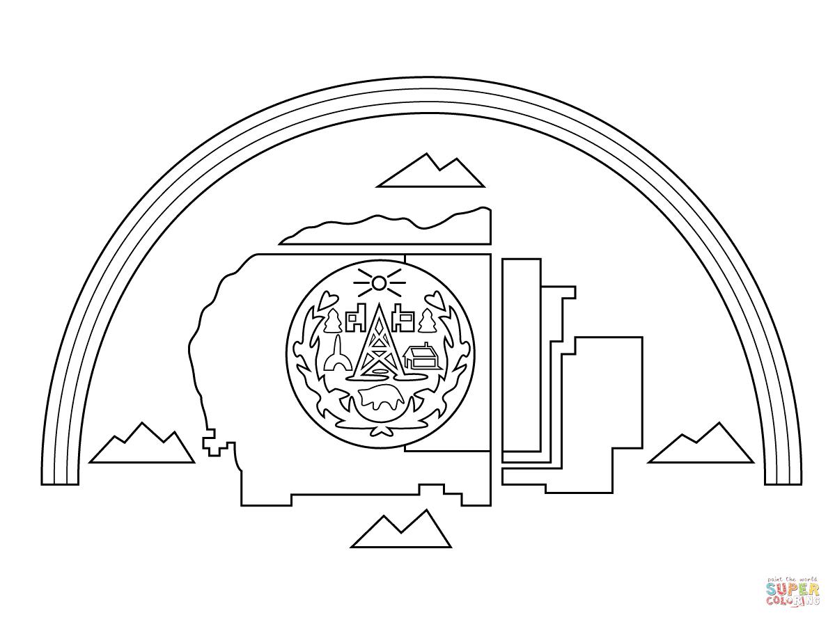 Navajo Nation Flag Coloring Page