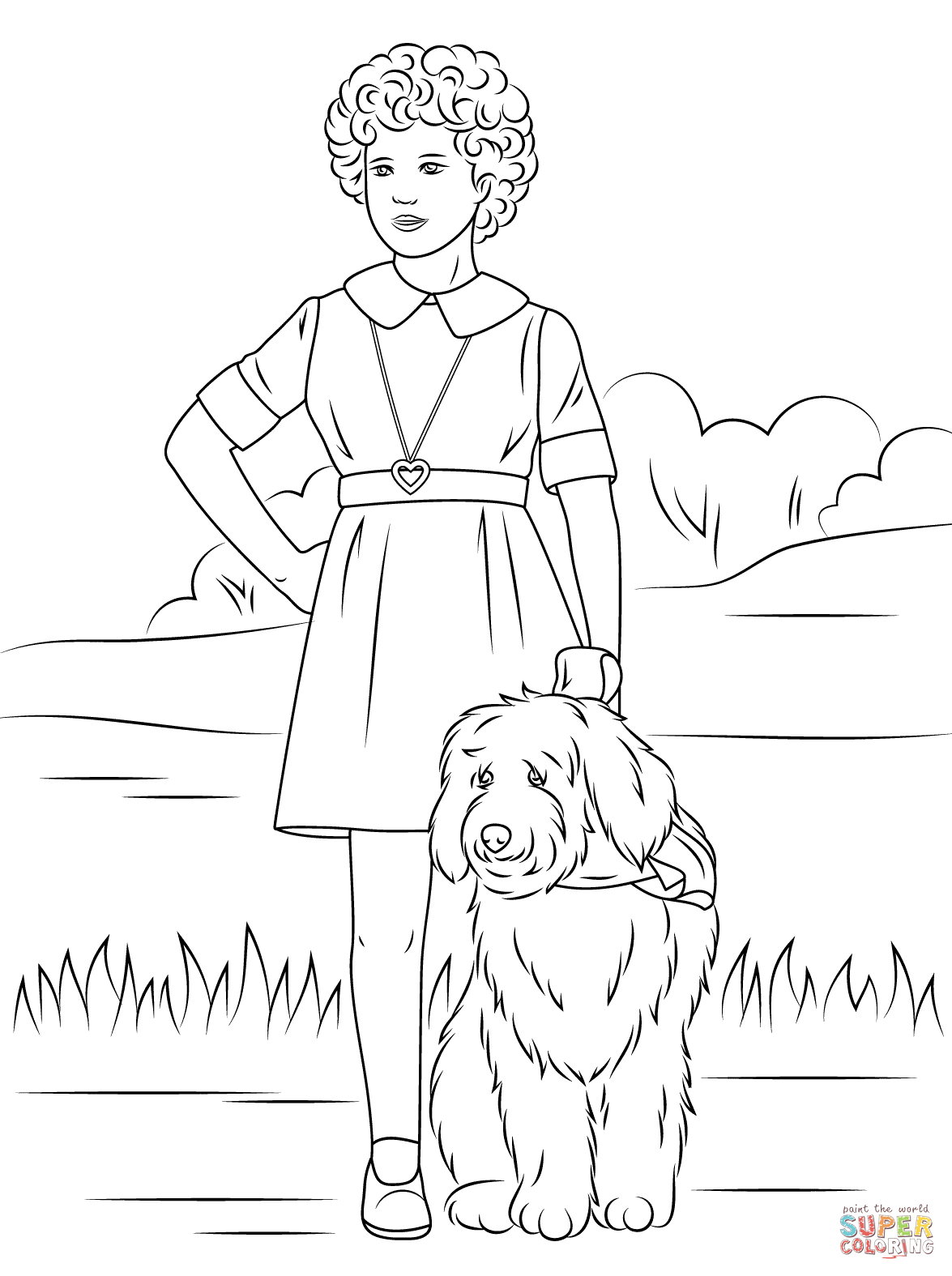 Orphan Annie With One Lung Coloring Page