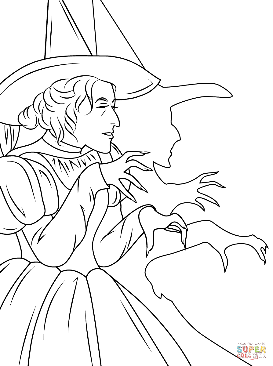 Witch West Pages Wicked Coloring Winkies And