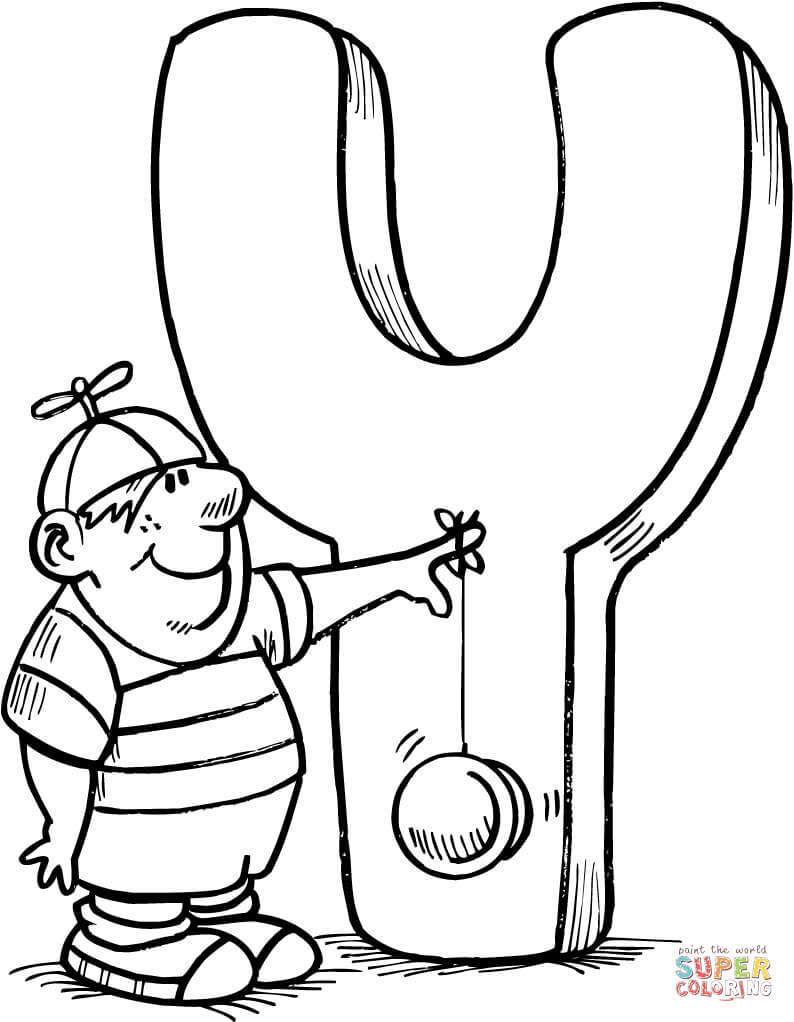 Letter Y Is For Yo Yo Coloring Page Free Printable Coloring Pages