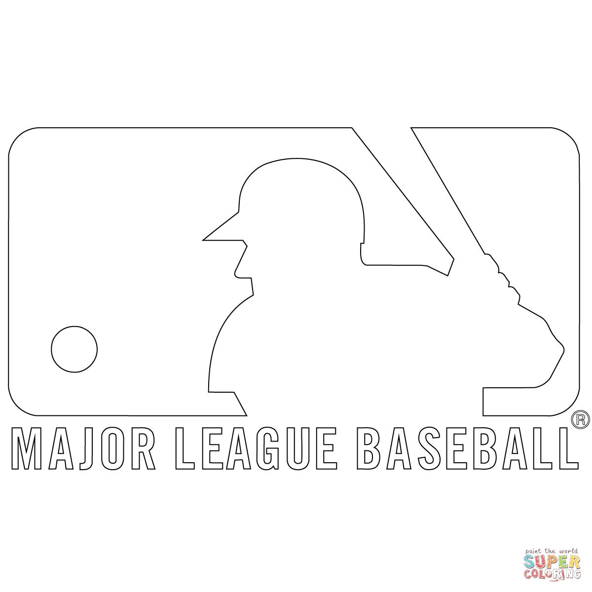Mlb Logo Coloring Page