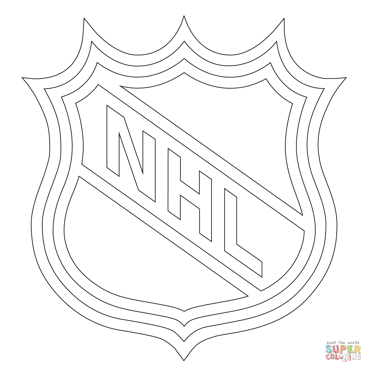 Nhl Logo Coloring Page Free Printable Pages