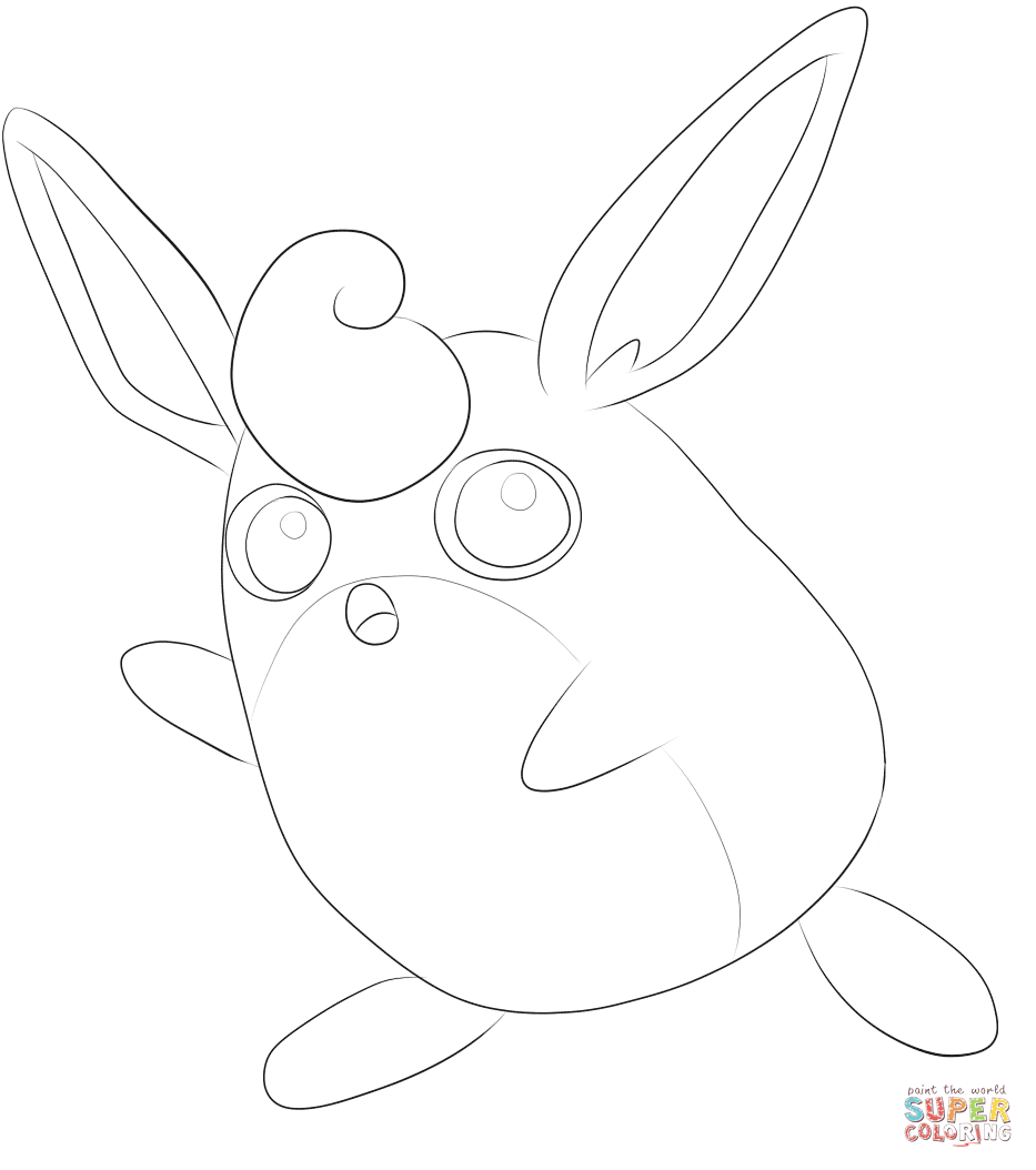 Wigglytuff Pokemon Coloring Pages