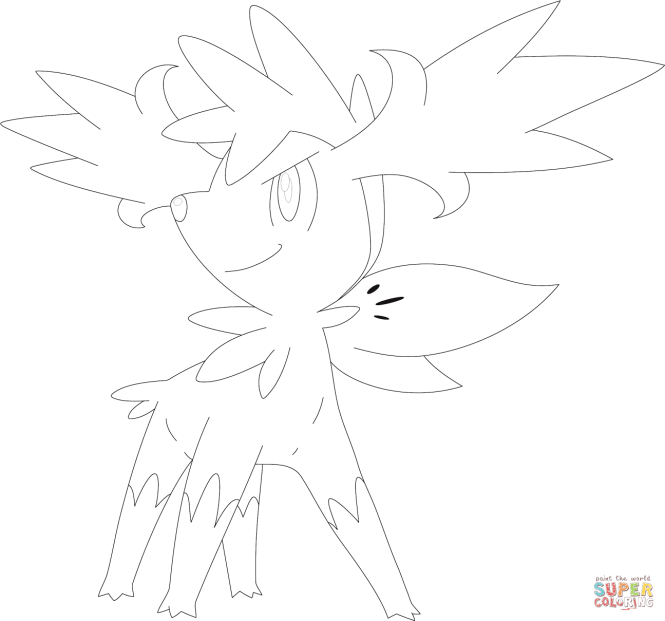 Shaymin Sky Form Coloring Pages | Coloring Page for kids