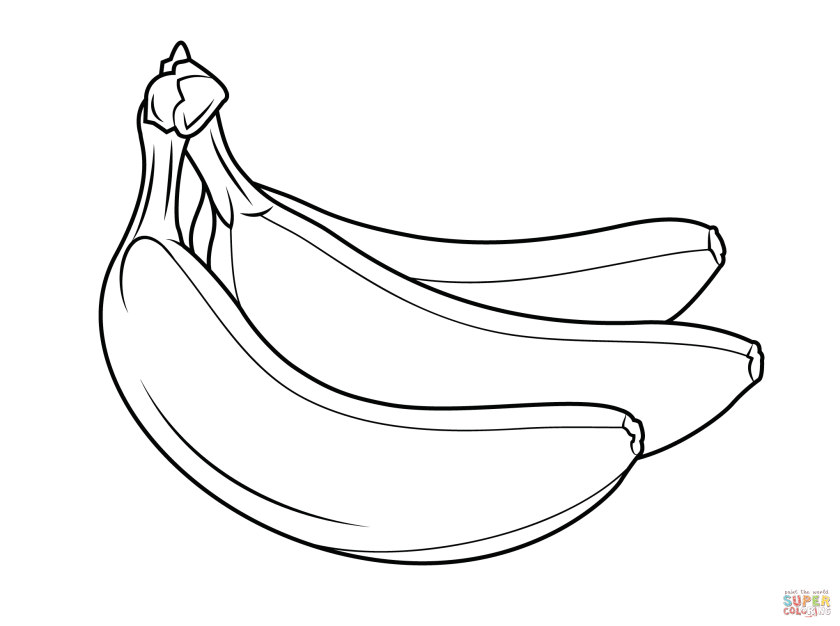 sigle coloring book banana coloring pages